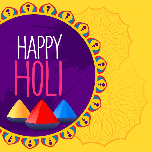 Colorful happy holi festival background Free Vector