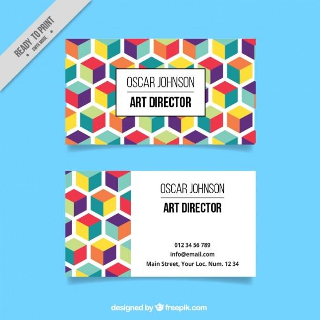 Colorful hexagonal corporative card vector free download colorful hexagonal corporative card free vector stopboris Image collections