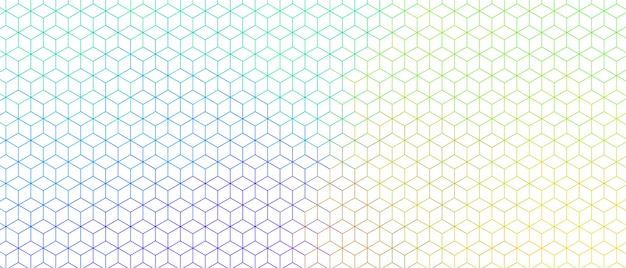 Colorful hexagonal line wide pattern design banner Free Vector