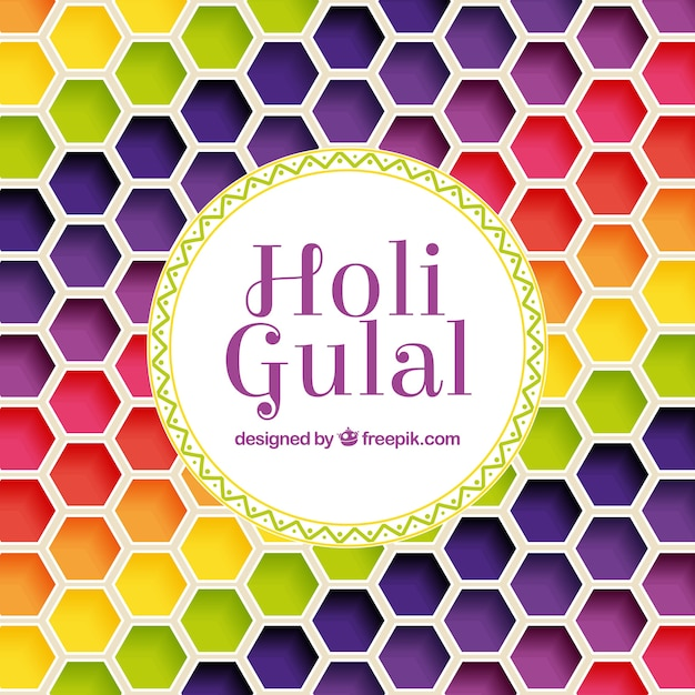 Colorful holi background in flat style Free Vector