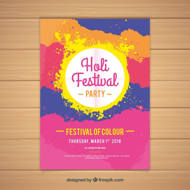 Colorful holi festival poster template vector free download colorful holi festival poster template free vector pronofoot35fo Gallery