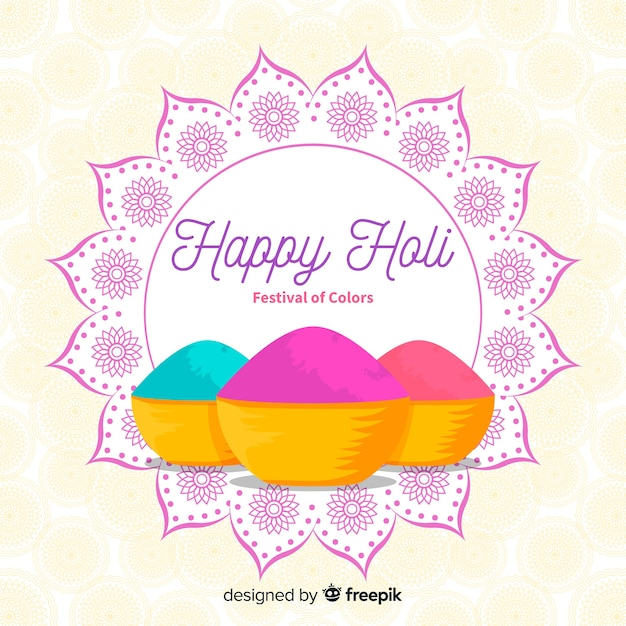 Colorful holi gulal background Free Vector