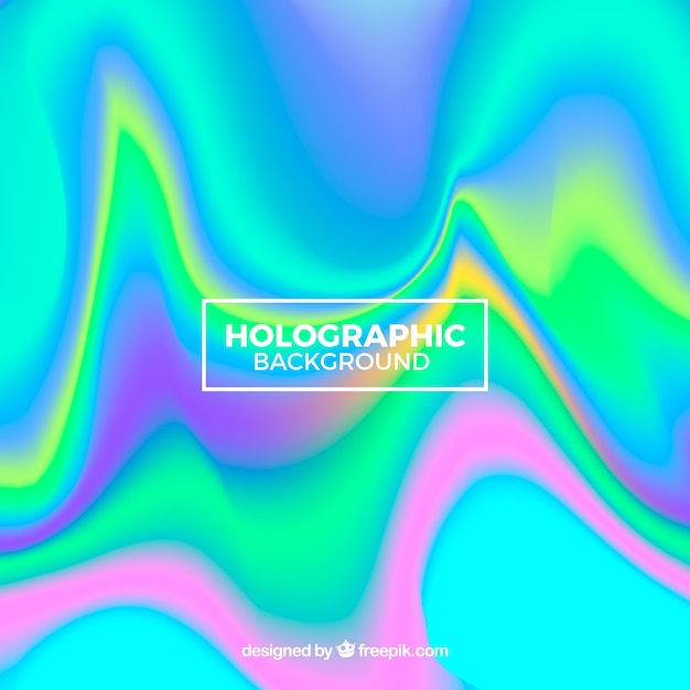 Colorful holographic background Free Vector