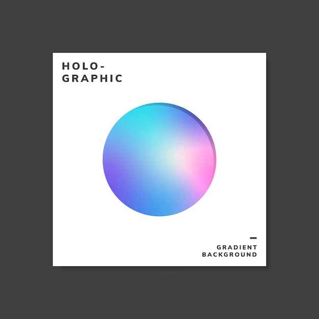 Colorful holographic gradient background design sample Free Vector