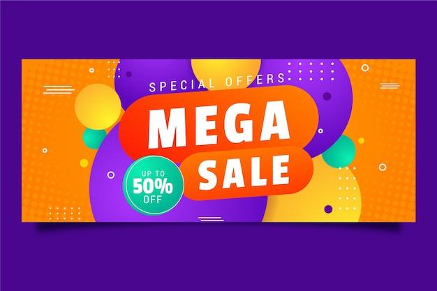 Banner orizzontale colorato in vendita Vettore gratuito