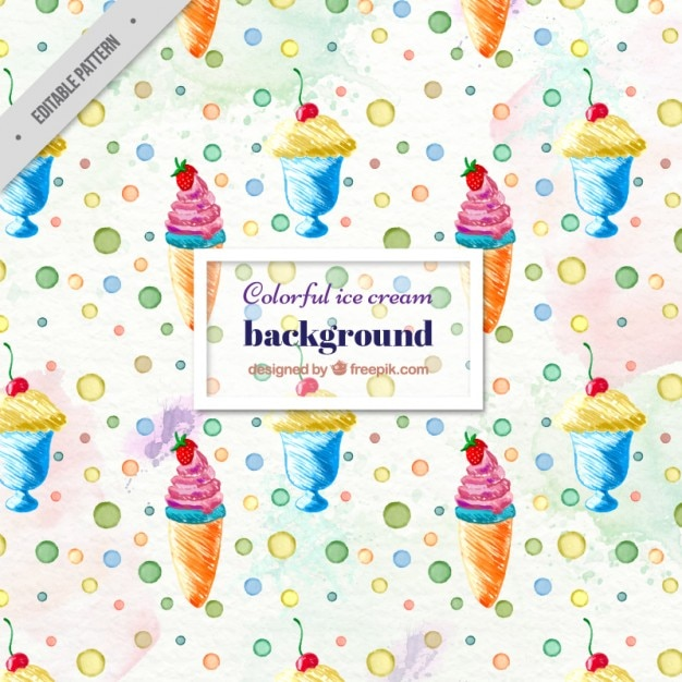 Colorful Ice Cream Background Vector