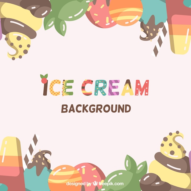 Ice Cream Free Vector Download 980 Free Vector For: Colorful Ice Cream Background Vector