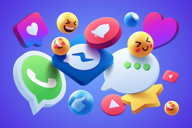 Colorful icons set style Free Vector