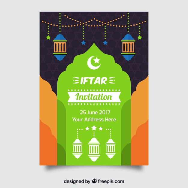 Colorful iftar invitation vector free download colorful iftar invitation free vector stopboris Image collections