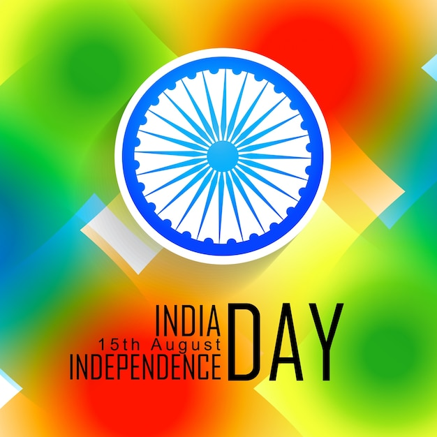 Colorful indian independence day design