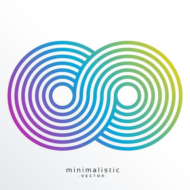 Simbolo di infinità colorato realizzato con strisce Vettore gratuito