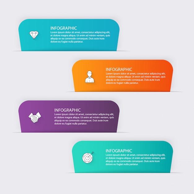 Красочная информационная графика для ваших бизнес-презентаций. Premium векторы