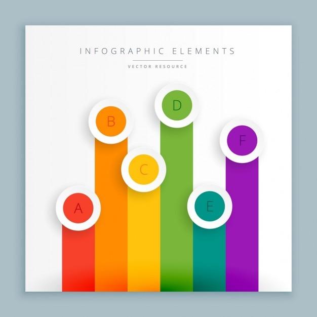 Rappresentazione grafica delle barre colorate Vettore gratuito