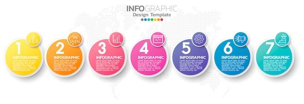 Colorful infographic element template Premium Vector