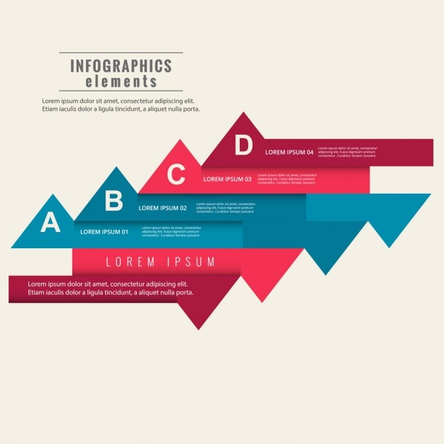 Colorful infographic elements template Free Vector