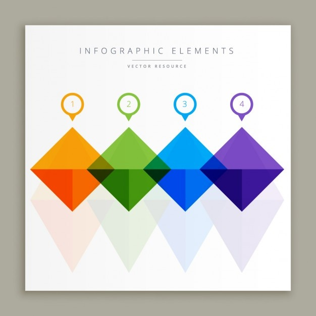 Colorful infographic elements Free Vector