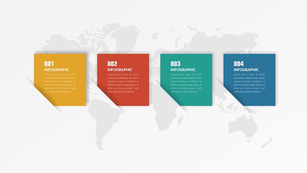 Colorful infographic template business strategy Premium Vector
