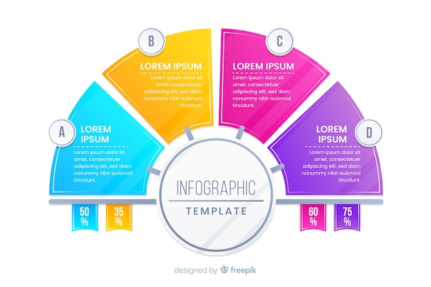Colorful infographic template flat design Free Vector