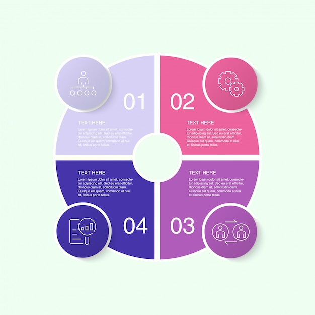 Colorful infographic template with icons and 10 options or steps. Premium Vector