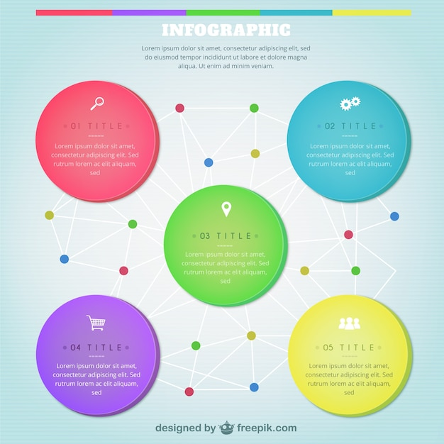 Colorful Infographic Template Vector | Free Download