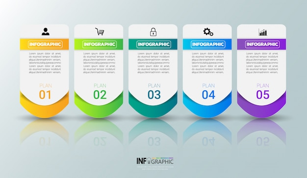 Colorful infographic template Premium Vector
