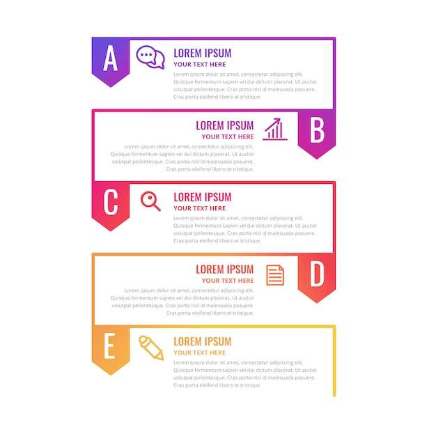 Colorful infographic timeline template Free Vector