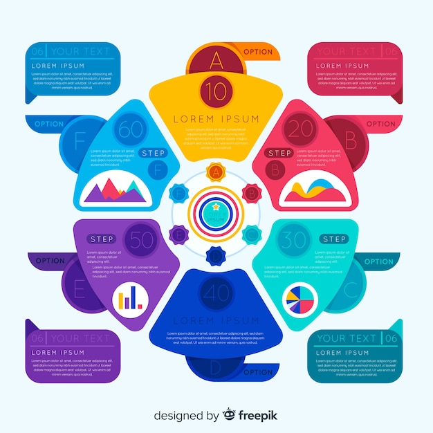 Colorful infographic with options Free Vector