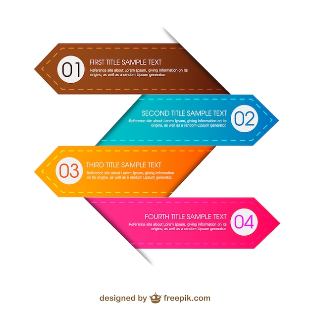 Colorful infographic Free Vector