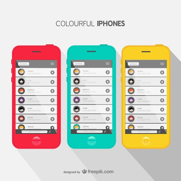 Colorful iphone covers Free Vector
