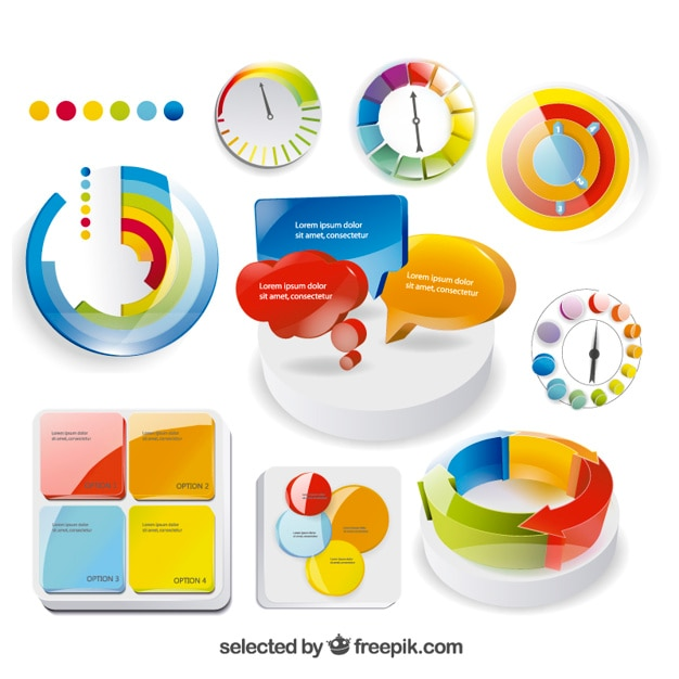 Colorful isometric graphic Free Vector