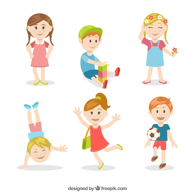 Colorful kids illustration Vector | Free Download