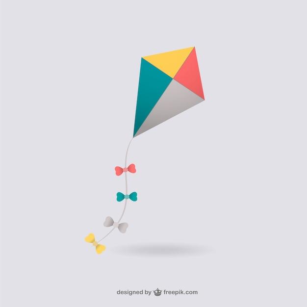 Colorful kite illustration Free Vector