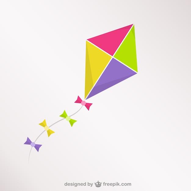 Colorful kite Premium Vector