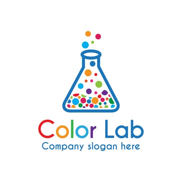 Colorful Lab Logo Free Vector