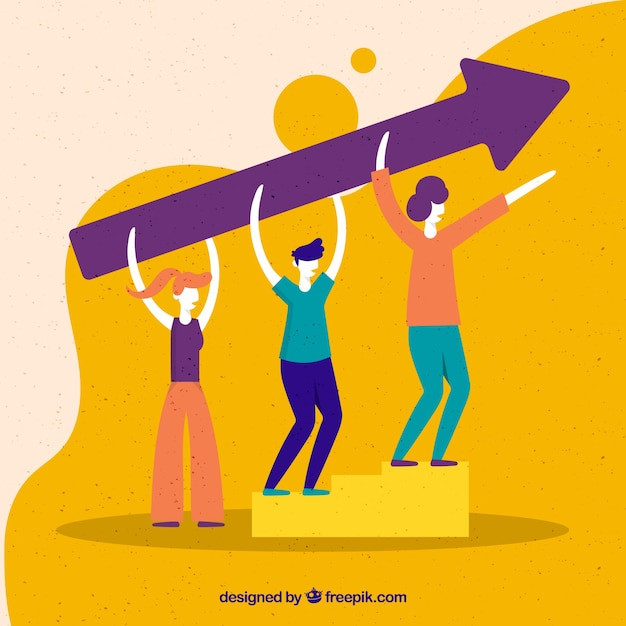 Colorful landing page concept Free Vector