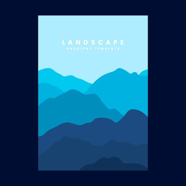 colorful landscape gradient poster template vector free download