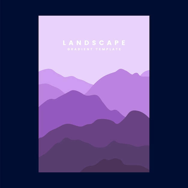 Colorful landscape gradient poster template Free Vector