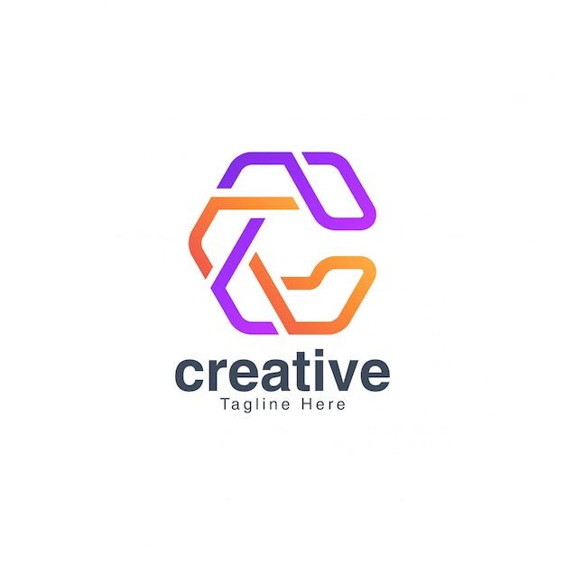 Colorful letter c logo design vector template Premium Vector