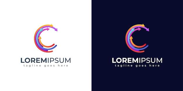 Colorful letter c logo design Premium Vector