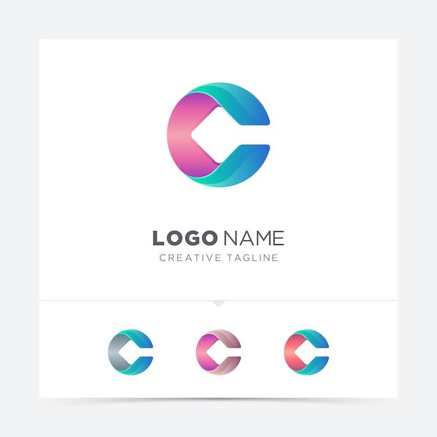 Colorful letter  logo variation Premium Vector