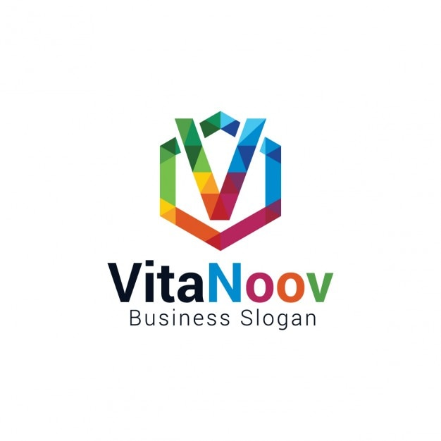Colorful letter v logo Vector : Free Download
