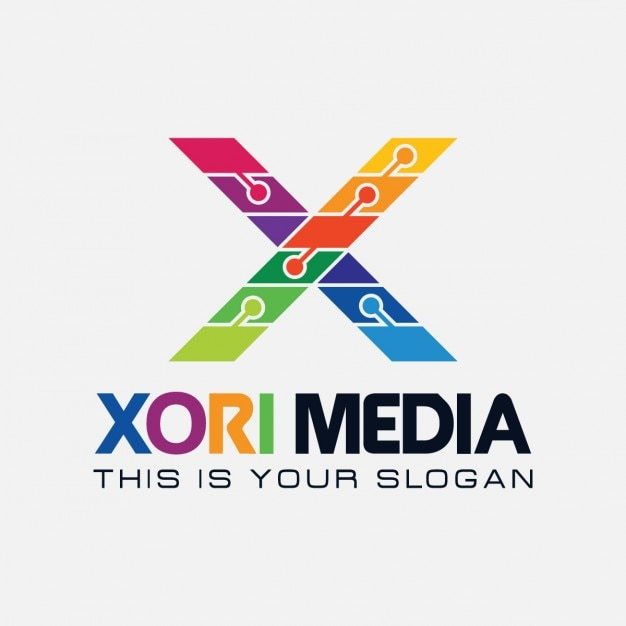 Colorful Letter X Logo Free Vector
