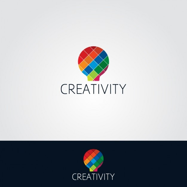 colorful light bulb logo vector free download