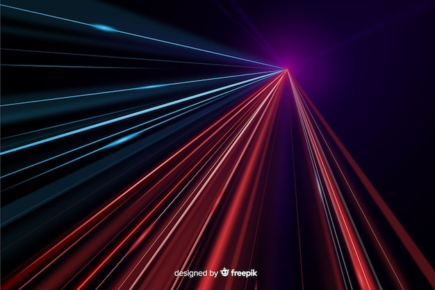 Colorful light trail background Free Vector