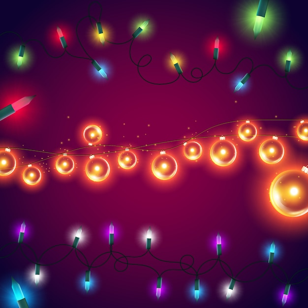 Colorful lights background Free Vector