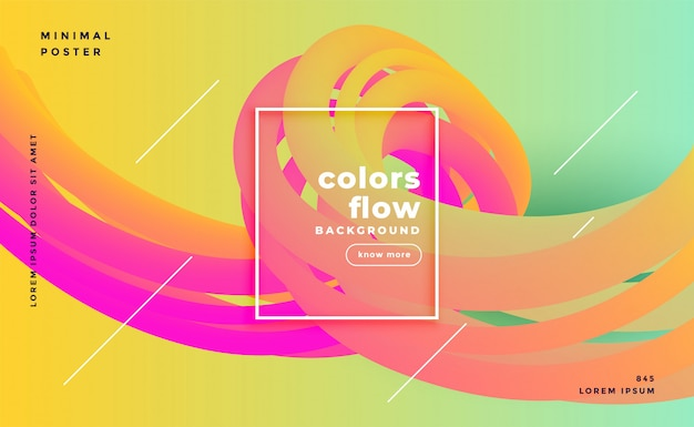 Colorful liquid shapes flow background Free Vector