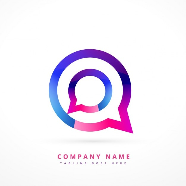 Colorful logo of chat Free Vector