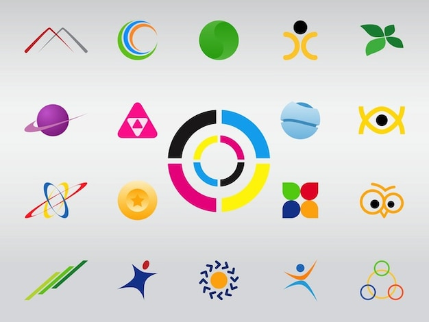 Colorful logo vector icons