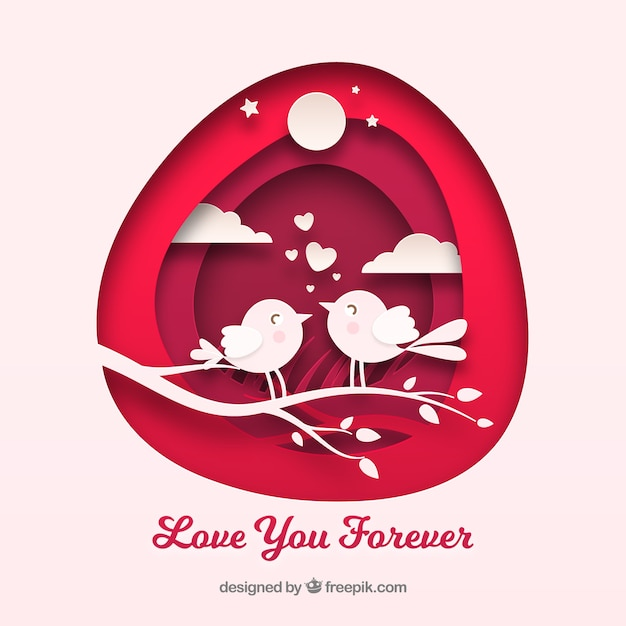 Colorful love composition with flat design Free Vector