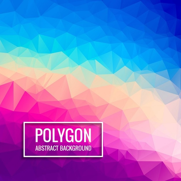 Colorful low poly background Free Vector